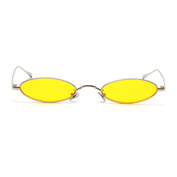 The Tiny Oval Sunglasses Yellow