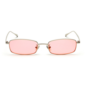 The Tiny Rectangle Sunglasses Pink - Youthly Labs