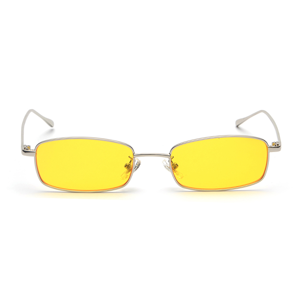 The Tiny Rectangle Sunglasses Yellow - Youthly Labs
