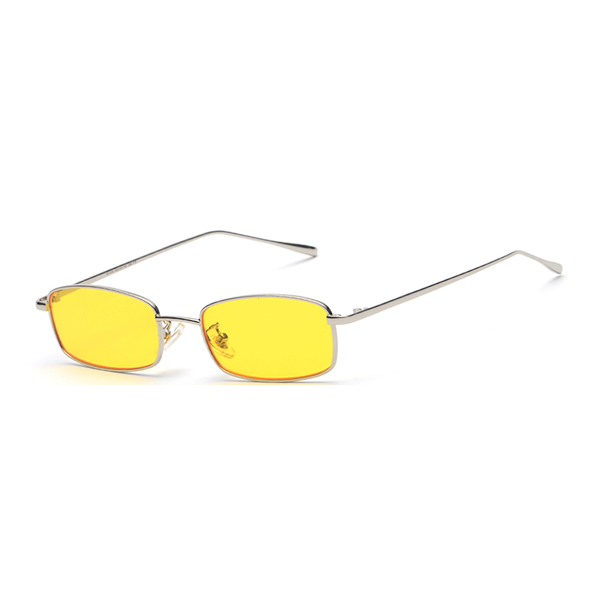 164f1c9974 The Tiny Rectangle Sunglasses Yellow - Youthly Labs