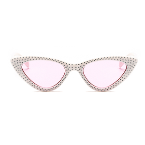 The Vintage Bling Sunglasses Pink White - Youthly Labs