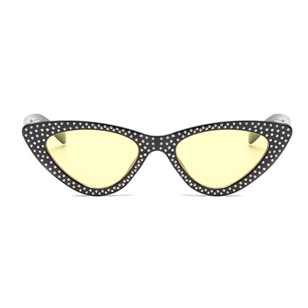 The Vintage Bling Sunglasses Yellow Black