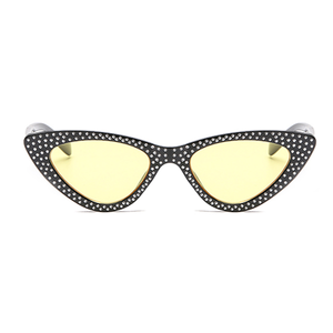 The Vintage Bling Sunglasses Yellow Black - Youthly Labs