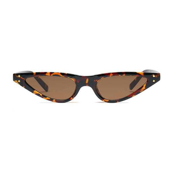 The Flat Triangle Sunglasses Leopard - Youthly Labs