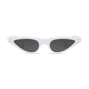 The Flat Triangle Sunglasses White - Youthly Labs
