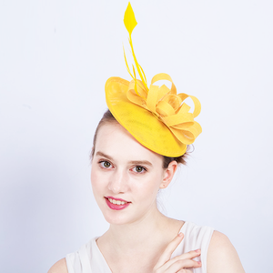 Yellow Festival Ribbon Bow Fascinator - Youthly Labs