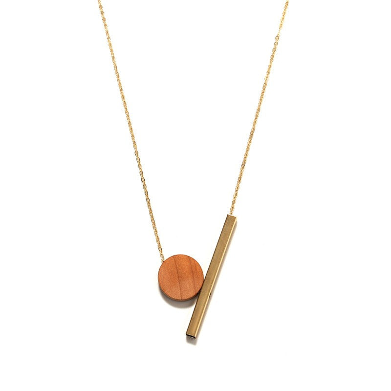 Geometric Minimalist's Wooden Necklace - Youthly Labs
