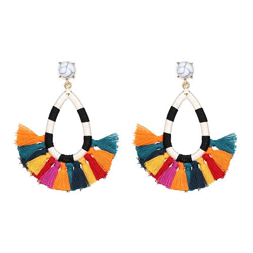 Colorful Small Tassle Earrings - Youthly Labs