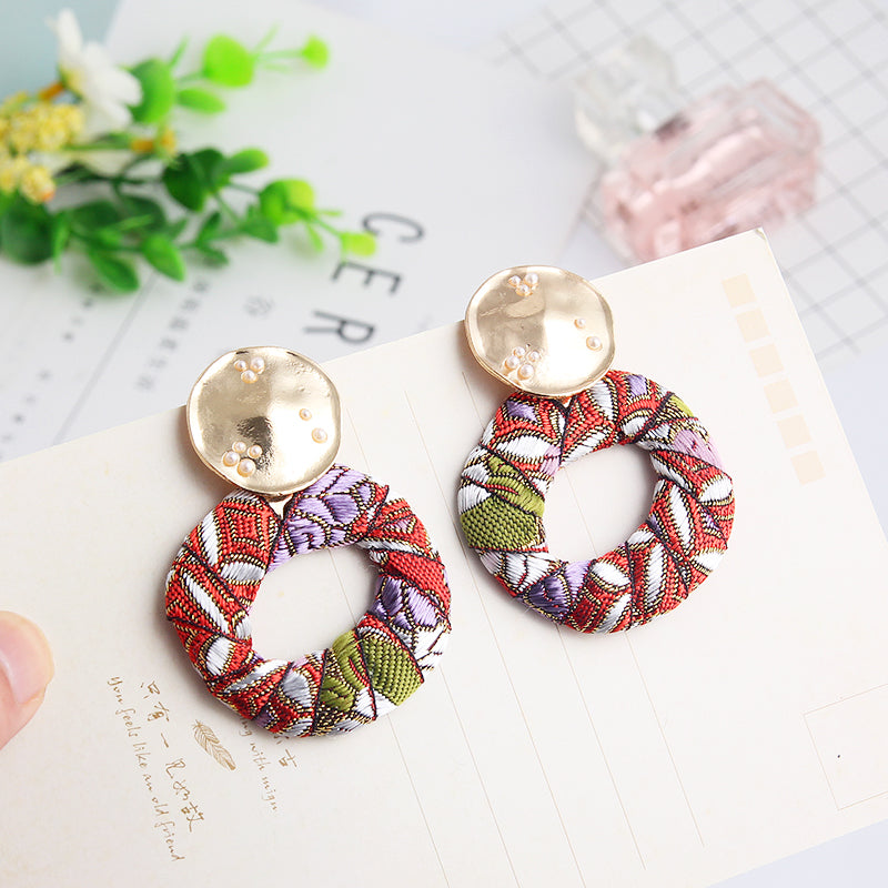 Colorful Cloth Earrings - Youthly Labs