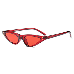 The Flat Triangle Sunglasses Red - Youthly Labs