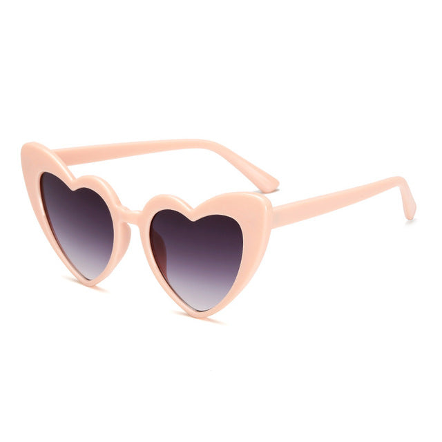 The Funky Heart Sunglasses Pink Dark - Youthly Labs