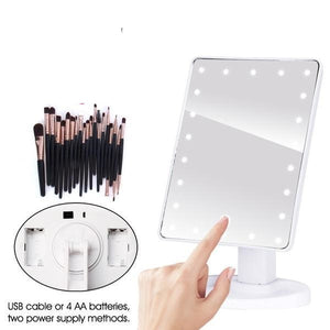 22 LED Makeup Mirror and Free Brushes