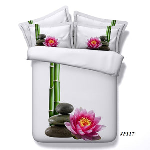 Bamboo Bedding 3D Floral sheets and Duvet Cover