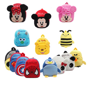 Cartoon and Super Hero Kids Plush Backpacks