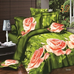 Velvety bamboo/lily boutique bedding set duvet/