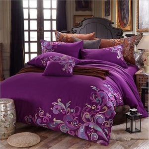 100% Cotton Bamboo Embroidered Design Bedding