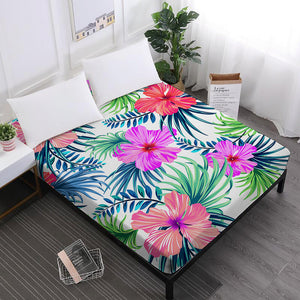 Flamingo Flowers Fitted Sheet