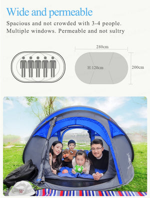 Popup Tent for 4-6 People