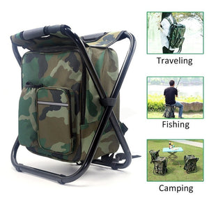 Camping chair backpack combo