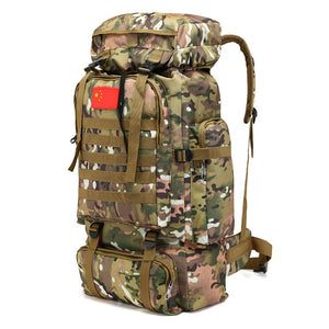 Military-Style Backpack - Large Capacity 70L