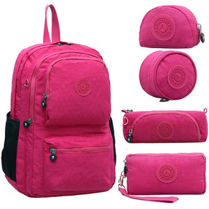 Cool School Backpack for Teenage Girl       5 Pieces!