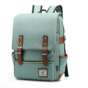 Preppy Designer Canvas Backpack