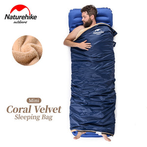 Velvet-Feeling Envelope Sleeping Bag