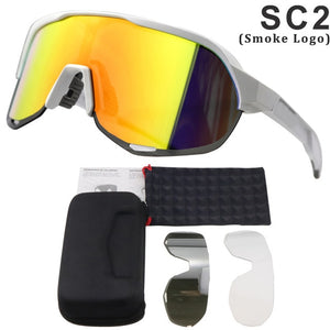 Cycling Glasses/ 3 Lenses PS2 Coated Mirror