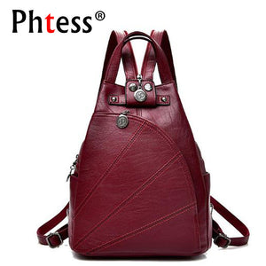Women Anti-theft Leather Backpacks
