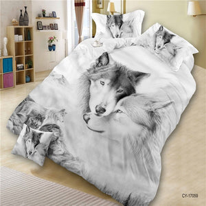 3D Animals Duvet Cover and Sheet Set with Pillowcase!