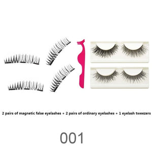 Magnetic Eyelashes--4 Pair - Includes Tweezers