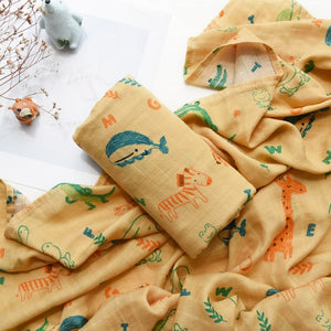 Cotton Bamboo Muslin Baby Blanket Swaddle For Newborns