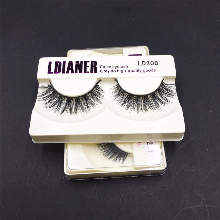 Real Mink Natural Long Black Eyelashes