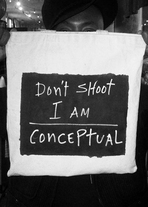 Don't Shoot I'm conceptual