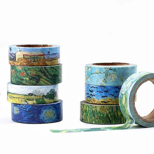 Van Gogh Washi Tape Set | 8 Pieces - All Written Down