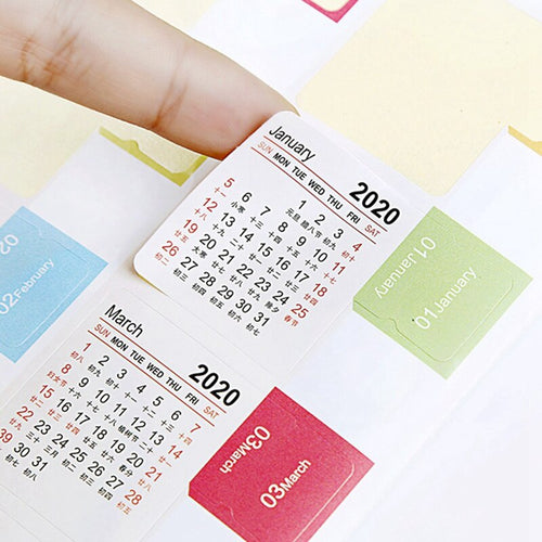 2020-2021 Calendar Index Sticky Notes - All Written Down