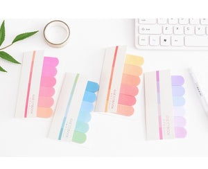Rainbow Index Sticky notes- 4 Pads - All Written Down