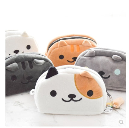 Kawaii Cat Plush Pencil Case - All Written Down