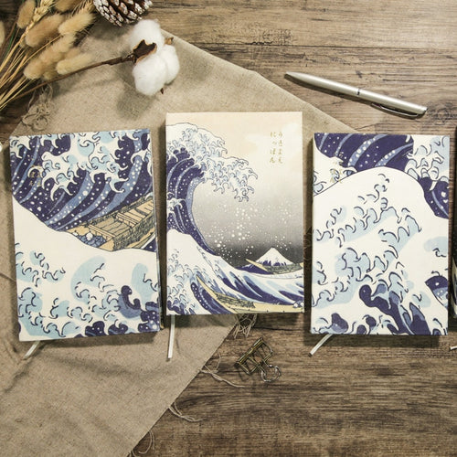 'The Great Wave' Series- Japanese Style Lined Notebook - All Written Down