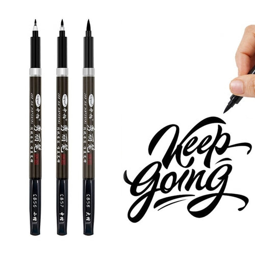 Black Calligraphy Pens | Set of 3 - All Written Down