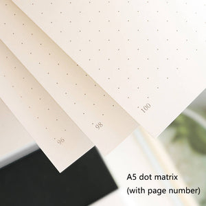 Hardcover Solid Color Dotted Notebook - All Written Down
