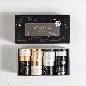 Gold & Silver Solar System Washi Tape | Set of 20 - All Written Down