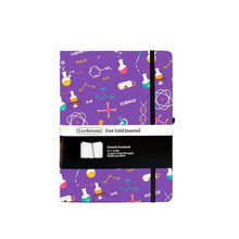 'The scientist' Dotted Notebook- Bullet Journal 160 GSM- Purple - All Written Down