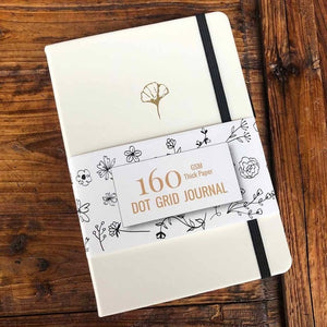 Blossom Series Dotted Notebook - Bullet Journal 160 GSM - All Written Down