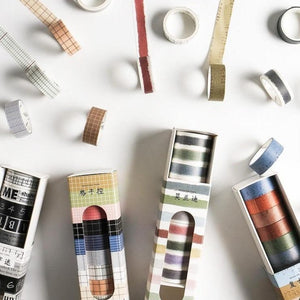 Vintage Style Washi Tape | Set of 10 - All Written Down