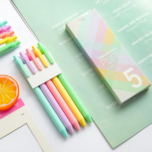 Pure Color Gel Pen | Set of 5 - All Written Down