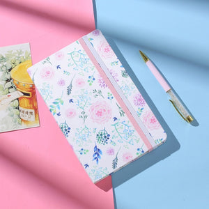 Flowery Hardcover Squared Pages Notebook - All Written Down