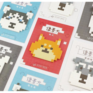 Pixelated Animals Sticky Notes - All Written Down
