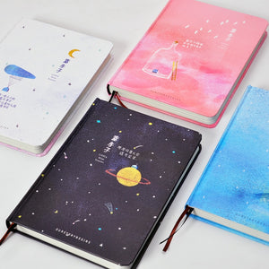 'Our Story Begins' Series- Colored Pages Notebook