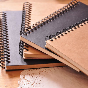 Spiral Craft Paper Notebook - All Written Down